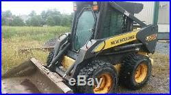 07 New Holland L175 Skid Steer Loader Heated Cab, A/C, Hy Coupler, Weight Kit