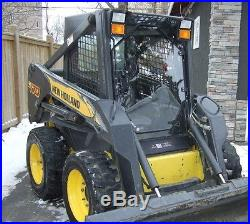 1/2 LX665 New Holland Extreme Lexan Door plus Sides! Skid steer loader glass