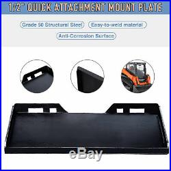1/2 Quick Attachment Mount Plate Kubota Bobcat Skidsteer Grade 50 Steel