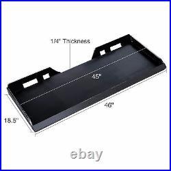 1/4 Quick Attachment Mount Plate for Kubota Bobcat Skidsteer Trailer Adapter