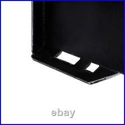 1/4 Steel Quick Tach Attachment Mount Plate for Kubota Bobcat Skidsteer Adapter