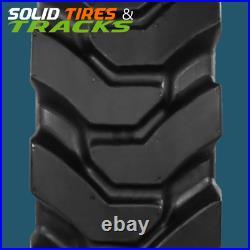 10-16.5 10x16.5 Solid Skid Steer Tires 4 + Rims 30x10-16 fits Case, Bobcat, CAT