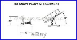 108 HD SNOW PLOW ATTACHMENT Skid-Steer Loader Angle Blade Mustang New Holland