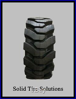 10x16.5 / 30x10-16 Flat Free Solid Skid Steer Tires Set of 4