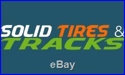12-16.5 12x16.5 Solid Skid Steer Tires 4 + rims 33x12-20 for Bobcat, Case, JCB, NH