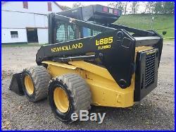 1998 New Holland LX885 Skid Steer Loader Diesel Construction Farm 2 Speed Cab