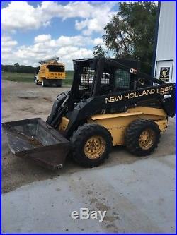 1998 new holland L865 skid steer loader super boom