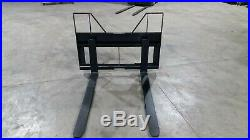 2000 Lb Falcon Skid Steer Tractor Pallet Forks. Adjustable (made In The Usa)