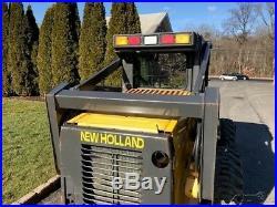 2003 New Holland LS190 Rubber Tire Skid Steer High Flow Loader Diesel Cab Wheel