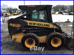 2006 New Holland L170 Skid Steer Loader with Cab NO DOOR Only 3000 Hours