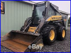 2007 New Holland L185 Skid Steer Loader Enclosed Cab, Heat High Flow. Cheap Ship