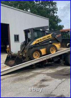 2008 New Holland L180 Skid Steer Loader. With Cab & 4-1 Bucket Clean