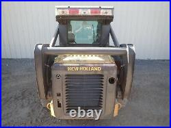 2009 New Holland L175 Skid Steer Erops Heat/ac Aux Hyd Pilot Controls 298 Hours