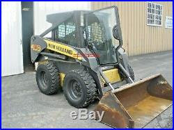 2011 NEW HOLLAND L160 SKIDLOADER ENCLOSED CAB with HEAT