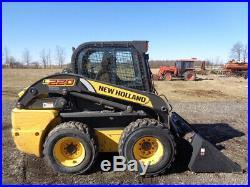 2013 New Holland L220 Skid Steer, C/H/A, Sticks/Pedals, Hyd QC, 2 Spd, 2,149 Hrs