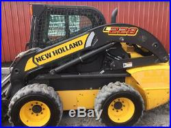2014 New Holland L228 Skid Steer Loader with Cab 2 Spd Only 1200Hrs