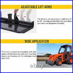 3-Point Attachment Adapter with Hitch for Kubota Bobcat Skidsteer Tractor Loader