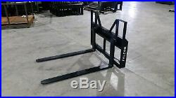 3500 Lb Falcon Skid Steer Tractor Pallet Forks. Adjustable (made In The Usa)