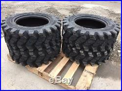 4 Camso SKS753 10-16.5 Skid Steer Tires for John Deere, New Holland 10X16.5