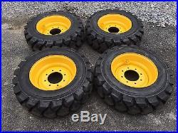 4 Galaxy Hulk L5 HD 10-16.5 Skid Steer Tires/Wheels/Rims for New Holland-10X16.5
