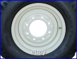 4 New 7.50-16 Narrow Snow Tires & New Holland Skid Steer Rims 12-16.5 Kit T
