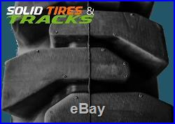 4 No Flats 10-16.5/30x10-16/10x16.5 Solid Skid Steer Tires + rims Heavy Duty