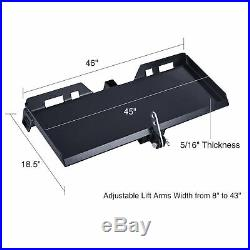 47 3-Point Attachment Adapter Trailer Hitch for Kubota Bobcat Skidsteer Tractor