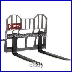 48 VIRNIG WALK-THRU PALLET FORKS & FRAME ATTACHMENT Caterpillar Cat Skid Steer