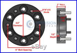 4pc 2.0 inch Skid Steer Wheel Spacers for 6Lug Gehl Mustang New Holland (2)