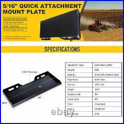 5/16 Quick Attachment Mount Plate for Bobcat Kubota Skid Steer Trailer Adapter