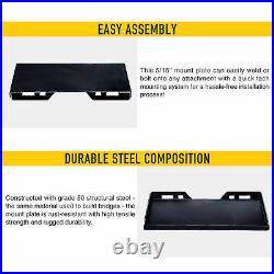 5/16 Quick Attachment Mount Plate for Kubota Bobcat Skid Steer Grade 50 Steel
