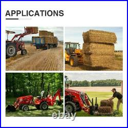 60 45 4000lbs Clamp on Pallet Fork Loader Bucket Skidsteer Tractor Heavy Duty