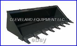 60 LOW PROFILE TOOTH BUCKET Skid Steer Loader Tractor Attachment Teeth Dirt 5