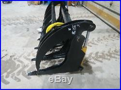 66 skid steer MS Attachments root rake grapple Heavy Duty Cat Case Bobcat