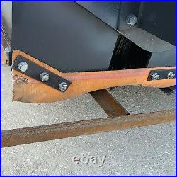 72 Box Skid Steer Sweeper Attachment Pick Up Broom Bucket Bobcat Kubota CAT