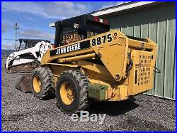 97 John Deere 8875 Skid Steer Loader 2 Speed New Holland Lx885. Clean