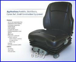 Air Suspension Seat CAT Skid Steer, Excavator, Dozer, Tractor, Forklift, Loader