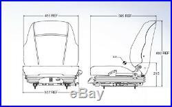 Air Suspension Seat John Deere Skid Steer, Excavator, Dozer, Tractor, Loader