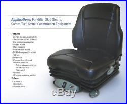 Air Suspension Seat New Holland Skid Steer, Excavator, Dozer, Tractor, Loader
