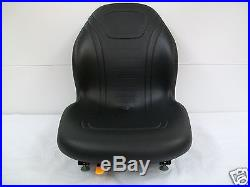 BLACK SEAT BOBCAT, FORD, NEW HOLLAND, CASE, JOHN DEERE, GEHL SKID STEER LOADERS #CE