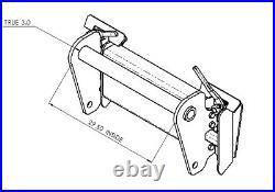 BUDD Manitou telehandler Skid Steer Quick Attach MLT MLT633 634 523 NH Ag GEHL