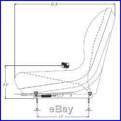 Black Bucket Seat fits Ford New Holland Skid Steer LX465 LX485 LX565 LX665 LX865