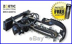 Blue Diamond Trencher Skid Steer Attachment, 36 with 6 Combo Chain & Auger