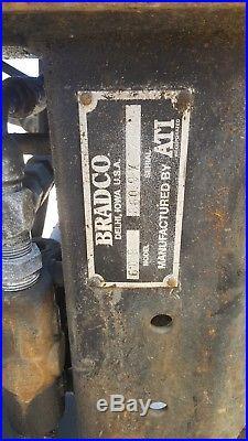 Bradco 609 skid steer attachment excavator backhoe new holland bobcat case