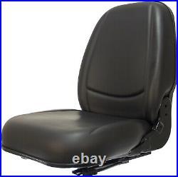 Deluxe Skid Steer Seat Slides Black Bobcat Case Ford Gehl John Deere New Holland