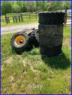 Foam Filled 14-17.5 Tires Wheels Set Of 4 New Holland Skid Steer Loader