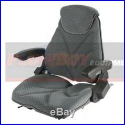 GRAY CLOTH Seat for TRACTOR LAWN MOWER SKIDSTEER LOADER FORKLIFT BACKHOE DOZER