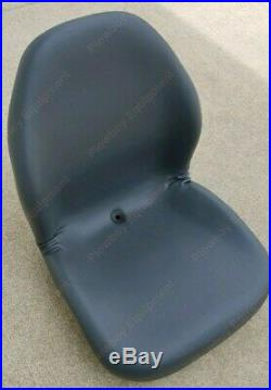 GRAY Vinyl SEAT for Riding Lawn Mower Skid Steer UTV Compact Tractor Zero Turn