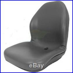 GRAY Vinyl SEAT for Riding Lawn Mower Skid Steer UTV Compact Tractor Zero Turn