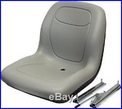 Grey HIGH BACK SEAT with Slide Track Kit for Ford New Holland Skid Steer Loader